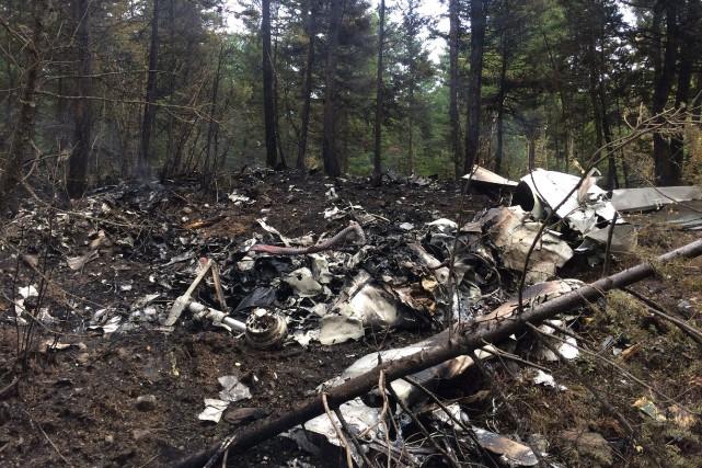 L'épave de l'avion a été retrouvée au nord-est... (PHOTO LA PRESSE CANADIENNE/BST)