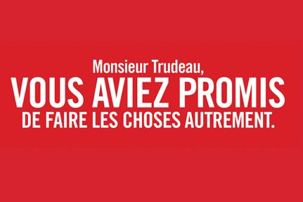 Les affiches imprimées s'adressent directement au premier ministre,... (Image tirée du site de l'AFPC)