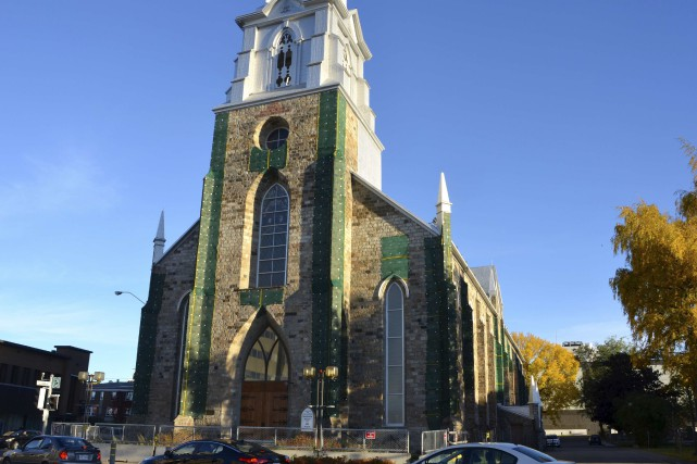 La cathédrale de Rimouski... (Collaboration spéciale Johanne Fournier)