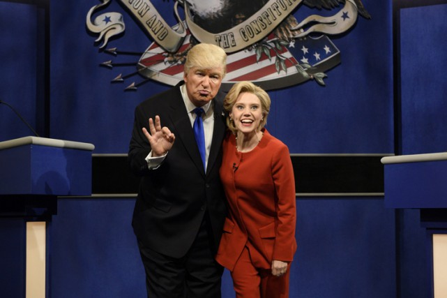 Alec Baldwin et Kate McKinnon incarnent les deux... (PHOTO AP)