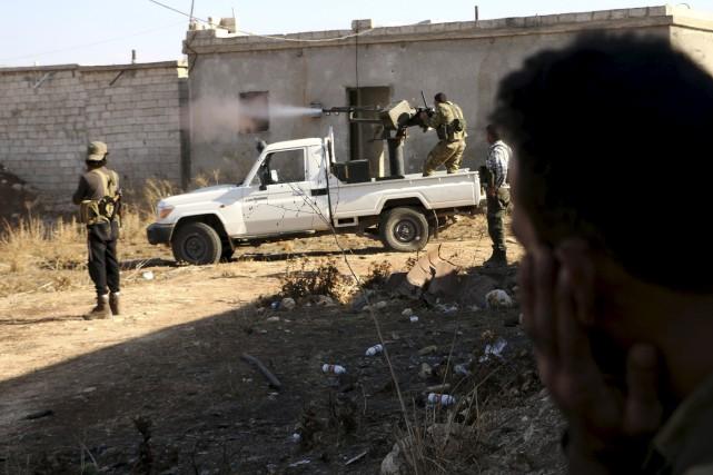 Les rebelles ont donné les derniers assauts, dimanche,... (AFP, Nazeer al-Khatib)