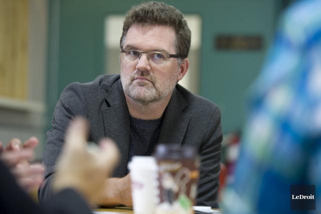 Le maire Maxime Pedneaud Jobin, lors d'un forum... (Martin Roy, LeDroit)