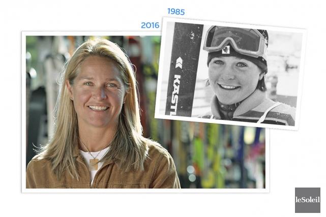 L'ancienne championne de ski alpin Lucie LaRoche est... (Infographie Le Soleil)