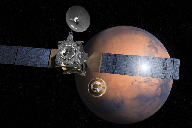 Cette image fournie par l'Agence spatiale européenne montre... (AFP, Agence spatiale européenne/D.Ducros)