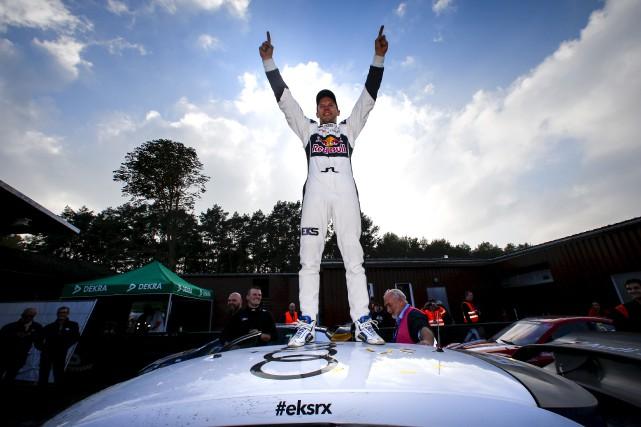 Mattias Ekstrom est devenu le deuxième champion du... (Colin McMaster/EKS/McKlein)