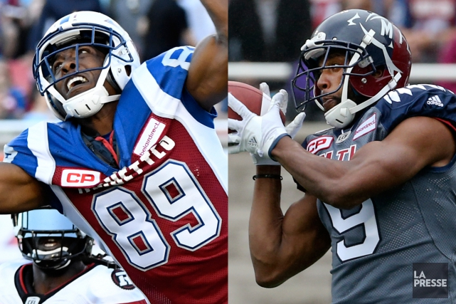 Duron Carter et Kenny Stafford... (Photos La Presse)