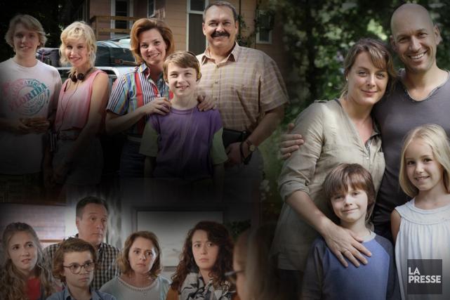 Est-ce que les familles présentées au petit écran québécois vous ressemblent?... (PHOTOMONTAGE LA PRESSE)