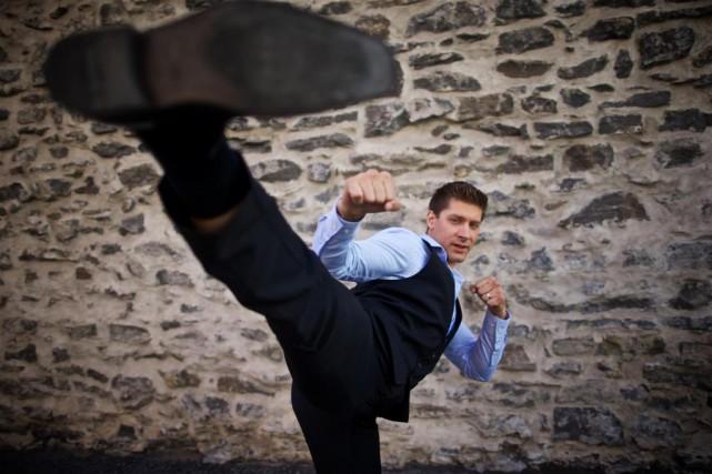 Alain Moussi est la vedette de Kickboxer:Vengeance, qui... (Photo André Pichette, Archives La Presse)