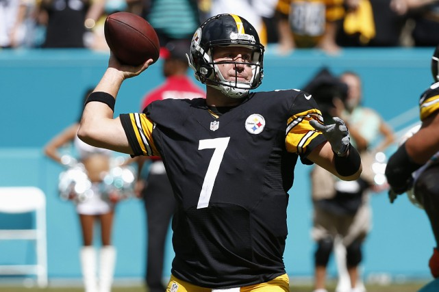 Le quart-arrière des Steelers de Pittsburgh, Ben Roethlisberger.... (Photo Wilfredo Lee, AP)