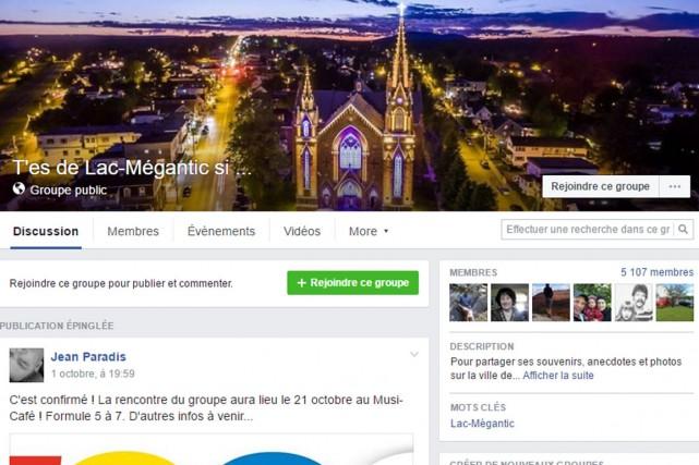 En créant le groupe Facebook «T'es de Lac-Mégantic si...», Jean Paradis ne... (Capture d'écran Facebook)
