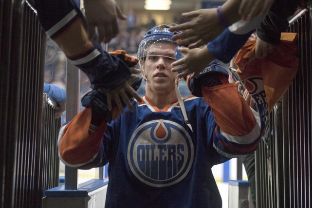 Connor McDavid a obtenu 48 points en 45 matchs... (PHOTO PC)
