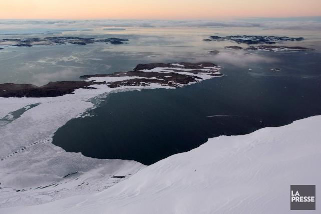 Le glissement des glaciers dans le sud de la péninsule antarctique et le... (Photo d'archives)