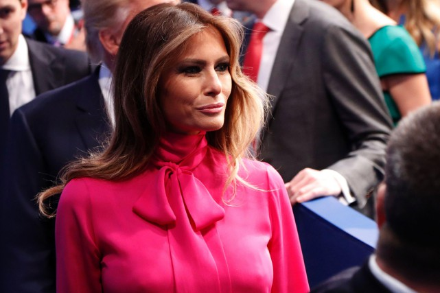 Melania Trump... (PHOTO ARCHIVES AFP)