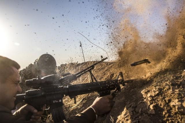 Quelque 30 000 hommmes des forces fédérales irakiennes... (PHOTO AP)