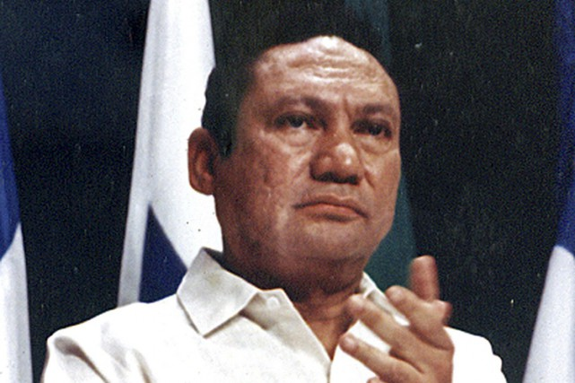 Manuel Noriega à Panama City en octobre 1989.... (ARCHIVES REUTERS)