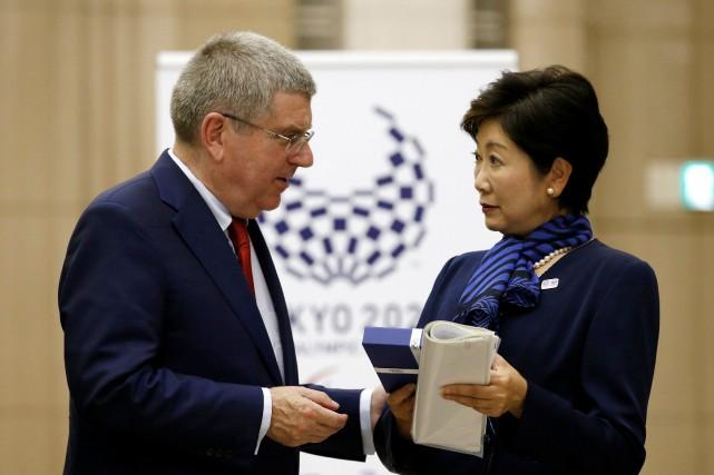 Le président du CIO, Thomas Bach, s'est entretenu... (Photo Kim Kyung-Hoon, REUTERS)