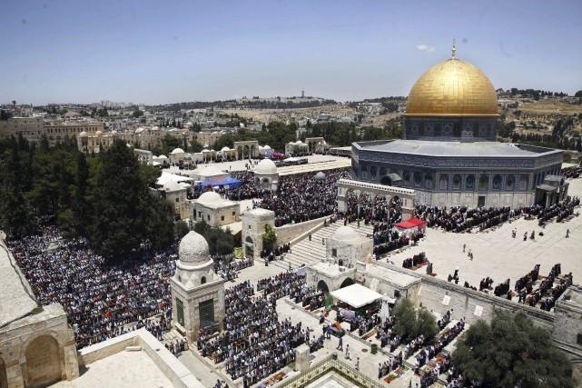 La mosquée d'Al Aqsa Mosque dans la Vieille... (AP, Mahmoud Illean)
