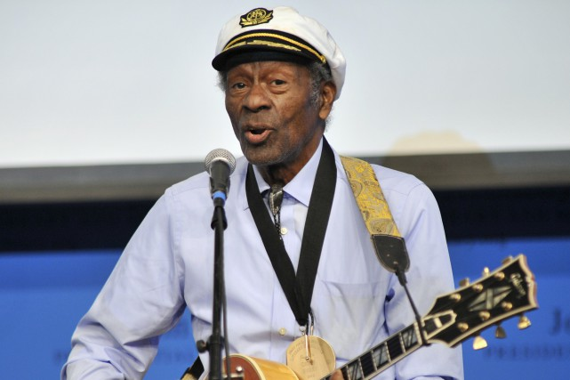 Le légendaire Chuck Berry, photographié en février 2012.... (Archives Associated Press)