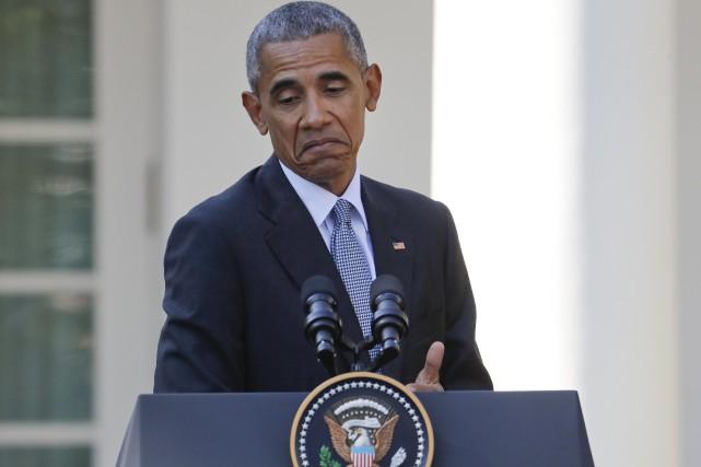 Lors d'une conférence de presse à Washington, le... (AP, Pablo Martinez Monsivais)
