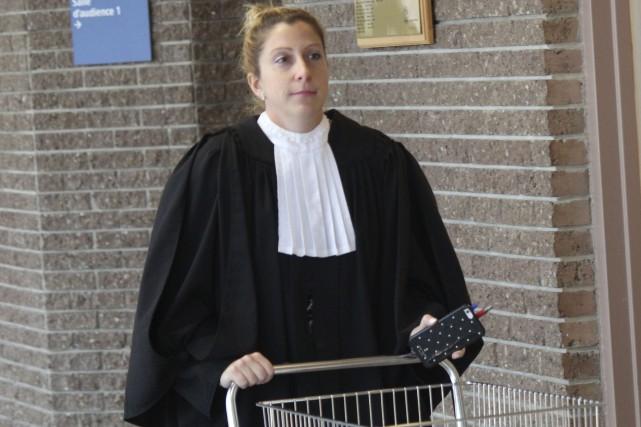 La procureure aux poursuites criminelles Me Stéphanie Landry... (La Tribune, René-Charles Quirion)
