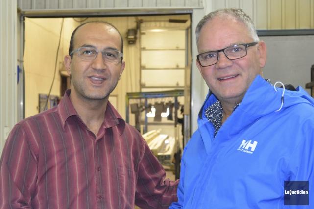 Habib Jarboue est reconnaissant qu'Alain Bilodeau lui ait... (Photo Le Quotidien, Louis Potvin)