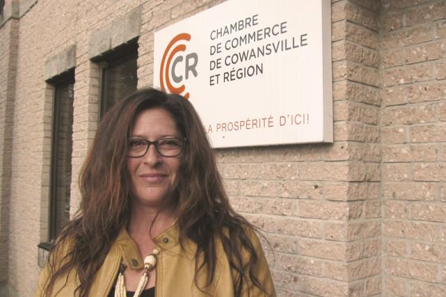 Hélène Sactouris vient d'être nommée par le conseil... (Fournie par la chambre de commerce de Cowansville et région)