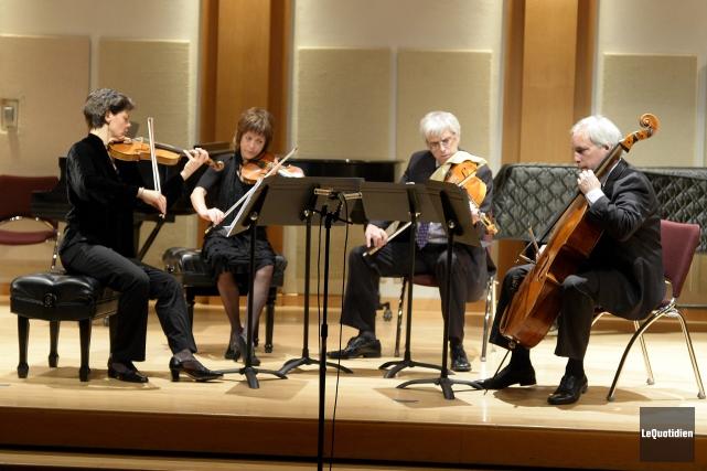 Le Quatuor Alcan a proposé le dernier quatuor... (Photo Le Quotidien, Jeannot Lévesque)