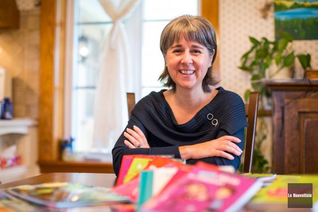 Nancy Montour publiera son 40e livre jeunesse.... (Olivier Croteau, Le Nouvelliste)