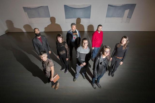 Luis Jacob, Sylvie Lachance, Shannon Bool, Brian Jungen,... (Photo Ivanoh Demers, La Presse)