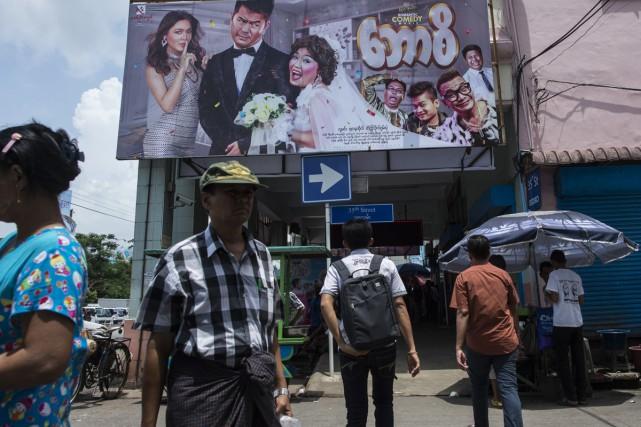 Le cinéma Thwin de Rangoun... (PHOTO AFP)