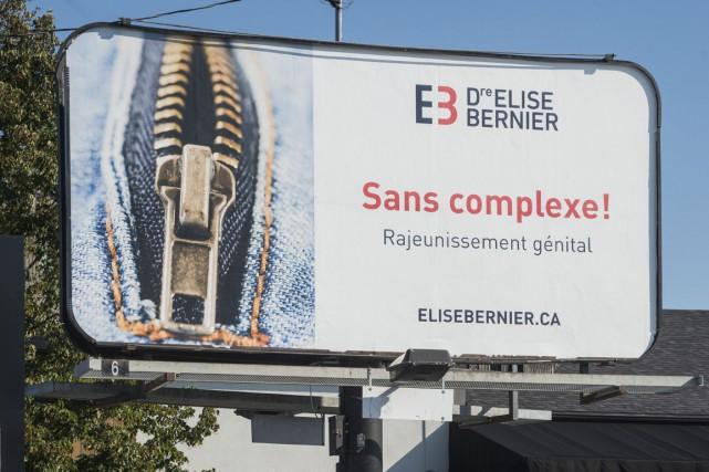 La publicité sur le rajeunissement génital a été... (Spectre Média, Frédéric Côté)