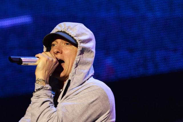 Eminemn'a jamais beaucoup parlé de politique dans ses... (PHOTO AFP)