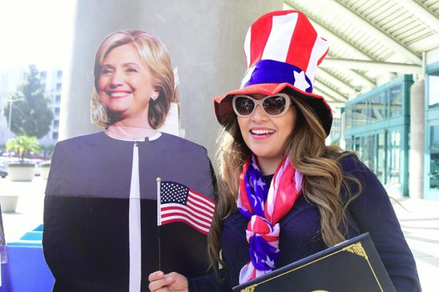 À l'automne 2014, alors qu'Hillary Clinton donne un... (PHOTO AFP)