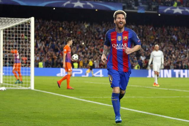 Lionel Messi a marqué trois buts dans la... (Photo Francisco Seco, AP)