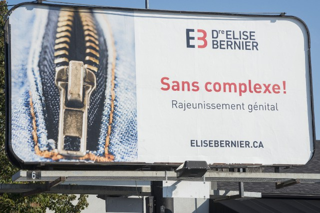 La publicité controversée sur le rajeunissement génital a... (Spectre Média, Frédéric Côté)
