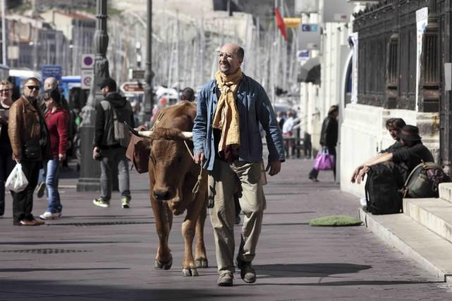Fatsah Bouyahmed incarne un modeste paysan naïf au... (Fournie par Les Films Séville)