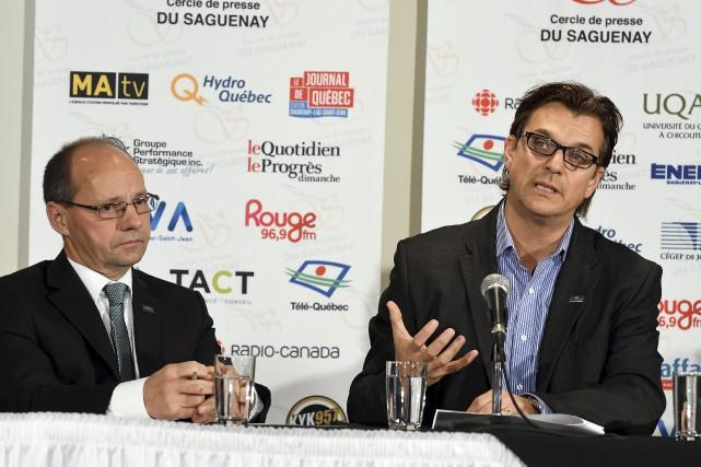 Le président de Nutrinor, Jean Lavoie, et son...