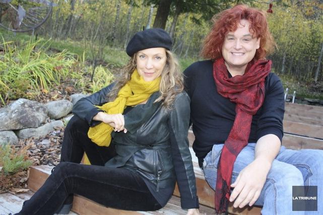 Lyne Tremblay et Serafin LaRiviere ont enregistré ensemble... (La Tribune, Jean-François Gagnon)