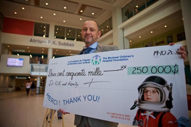 Le DrCharles Kowalskia offert la somme de 250000$... (Photo André Pichette, La Presse)
