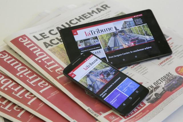 Vous êtes de plus en plus nombreux à lireLa Tribune. Votre quotidien... (Spectre Média, René Marquis)