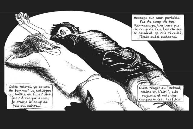 Le dessin est en noir et blanc. Quand... (image dr lemieux éditeur/l'express)