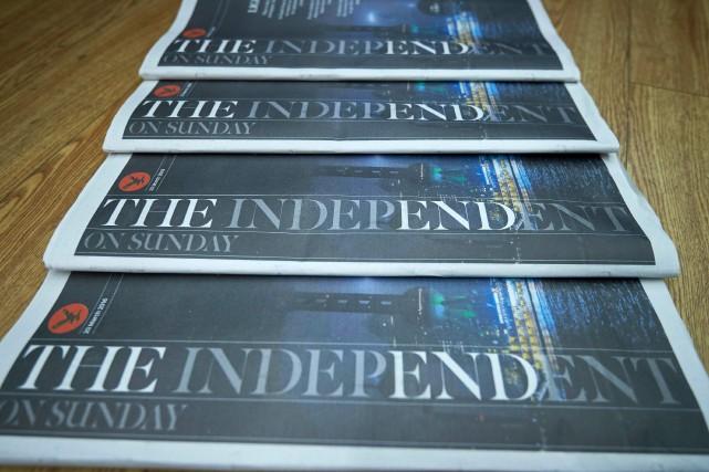 The Independent astoppé sa version papier en mars... (Archives AFP)