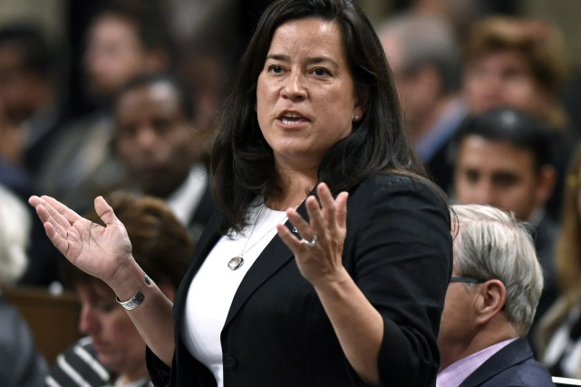 Jody Wilson-Raybould, la ministre de la Justice du... (PHOTO Justin Tang, PC)