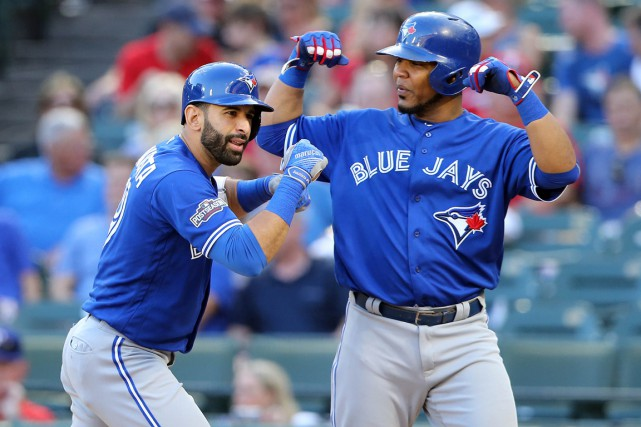 Jose Bautista et Edwin Encarnacion... (PHOTO Kevin Jairaj, archives USA Today Sports)