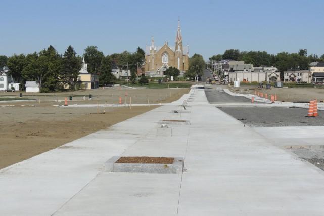 Les nouvelles rues Frontenac, Thibodeau et de la... (La Tribune, Ronald Martel)