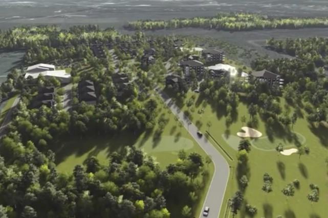 Un projet de complexe résidentiel est en branle... (Capture d'écran tirée du site du Golf des Lacs)