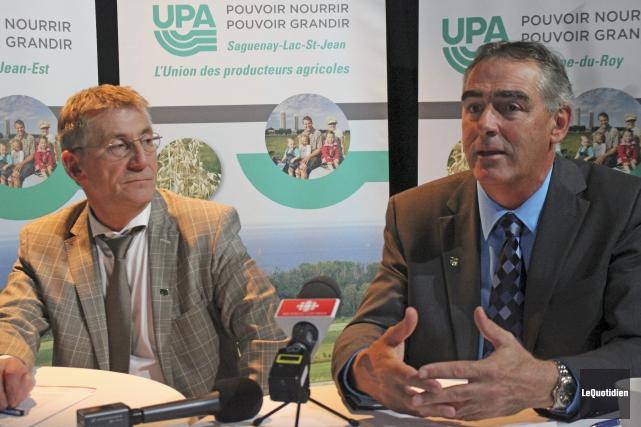 Yvon Simard, ex-président régional l'Union des producteur agricoles... (Photo Le Quotidien, Isabelle Tremblay)