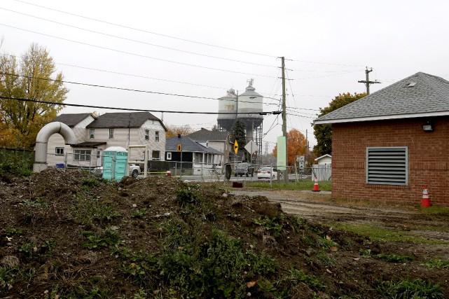 La station de pompage du Quai, dans le... (Patrick Woodbury, LeDroit)