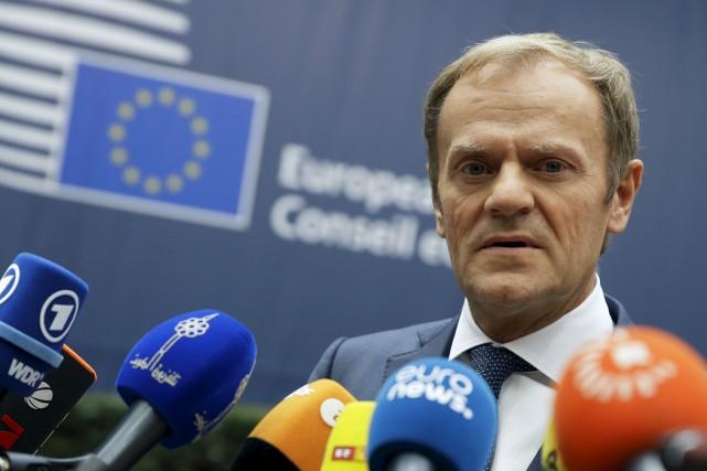 Le président du Conseil européen, Donald Tusk... (Associated Press)