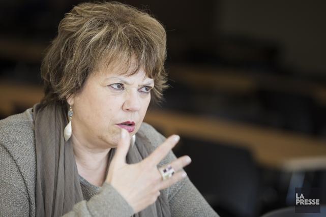 La ministre responsable de l'Enseignement supérieur, Hélène David,se... (Archives La Presse)
